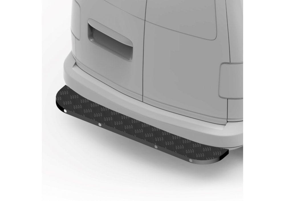 Ford Transit Custom Rear Step Black Assured Full Width All Steel Steps SWB LWB