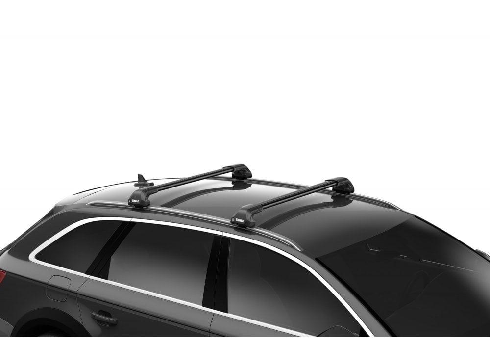 Thule Wingbar Evo Edge Black Roof Bars Peugeot 3008 5 Dr 17